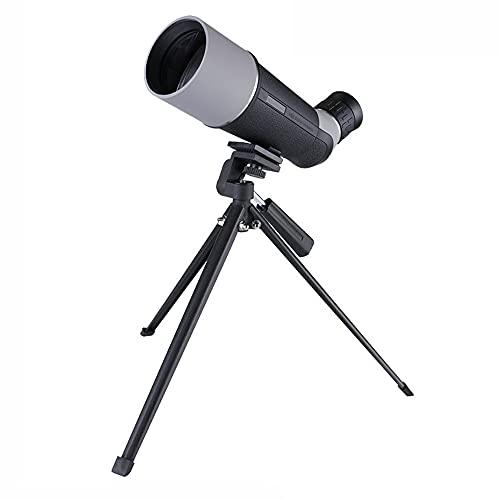 QSYY Telescopio Monocular 12X60, Detector con Soporte Y Trípode, Espejo De Viaje De Alta Definición, Visión Nocturna, Prisma Bifocal 4 Prisma, Visión, Observación De Aves