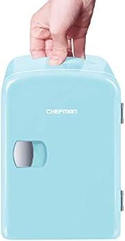 Chefman 4-liter Mini Portable Blue Personal Fridge