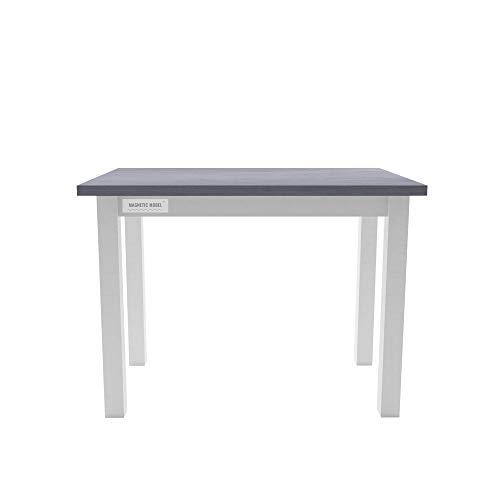 Esstisch Küchentisch Tisch Kiefer massiv Restaurant eckige Tischplatte 100 x 60 cm (Grau/Blau)