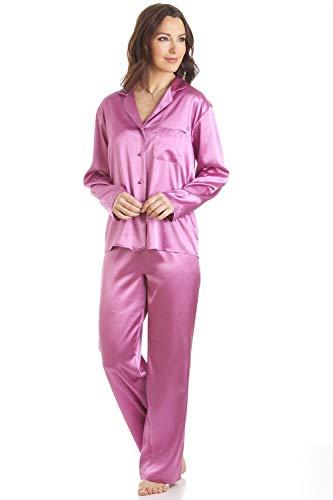 CAMILLE Verschiedene Satin-Pyjama-Sets für Damen mit Langen Ärmeln 40 FUSC