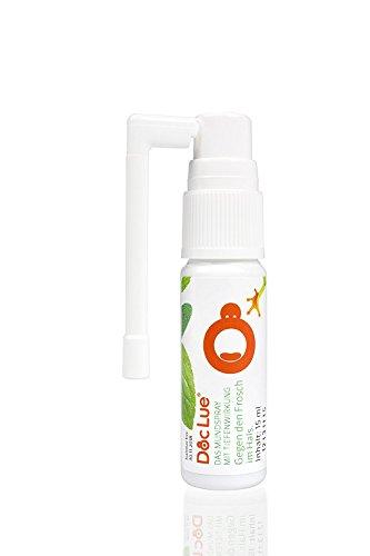 DocLue® gegen den Frosch im Hals | patentierte Wirkstoffformel mit Tiefenwirkung | Atemfrische | Heiserkeit | räusperfrei | Mundspray | Rachenspray | 150 Anwendungen, räusperfrei