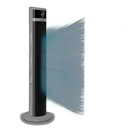 Klarstein Icetower Smart Ventilator, Standventilator, Leistung: 45 Watt, Digitales Display, mit Fernbedienung, 24-Stunden-Timer, 3 Wind-Modi, 100 m³/h, WiFi-Verbindung, mattweiß