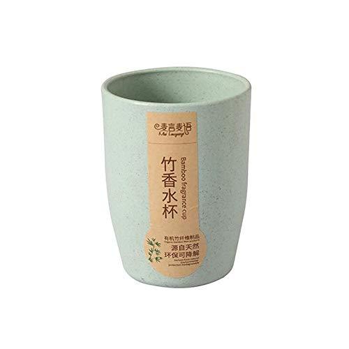 Tasses à thé créatives Fiber de bambou écologique paille de blé tasse café thé lait boisson tasse brosse à dents pour la maison salle de bains