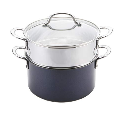 Prestige Optisteel Set para cocinar al Vapor, Juego de ollas vaporeras de...