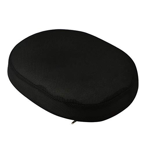 TwoCC-Cushion,Memory Foam Car Seat Cushion Hip Pain Relief Back Support Pillow,40X33X7cm (Black)