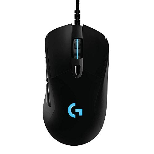Logitech G403 Hero 25K Gaming Mouse, Lightsync RGB, Lightweight 87G+10G optional, Braided Cable, 25, 600 DPI, Rubber Side Grips