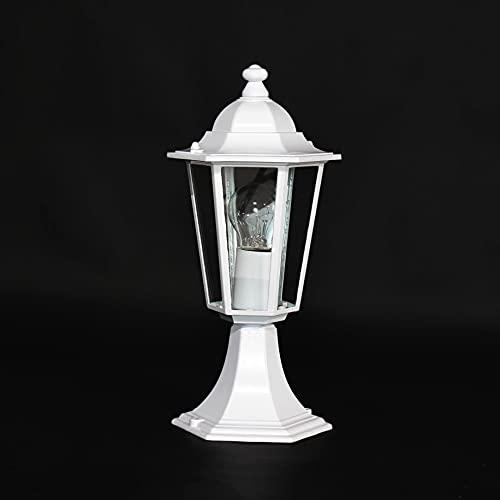 Lampe Sur Pied Lampe Pour Chemins Couleur Blanc Métal & Verre Véritable RA2/2/801
