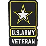 US Army, Star Logo Veteran - Decorative Patches, Embroidered Iron On Patch - 3.75'