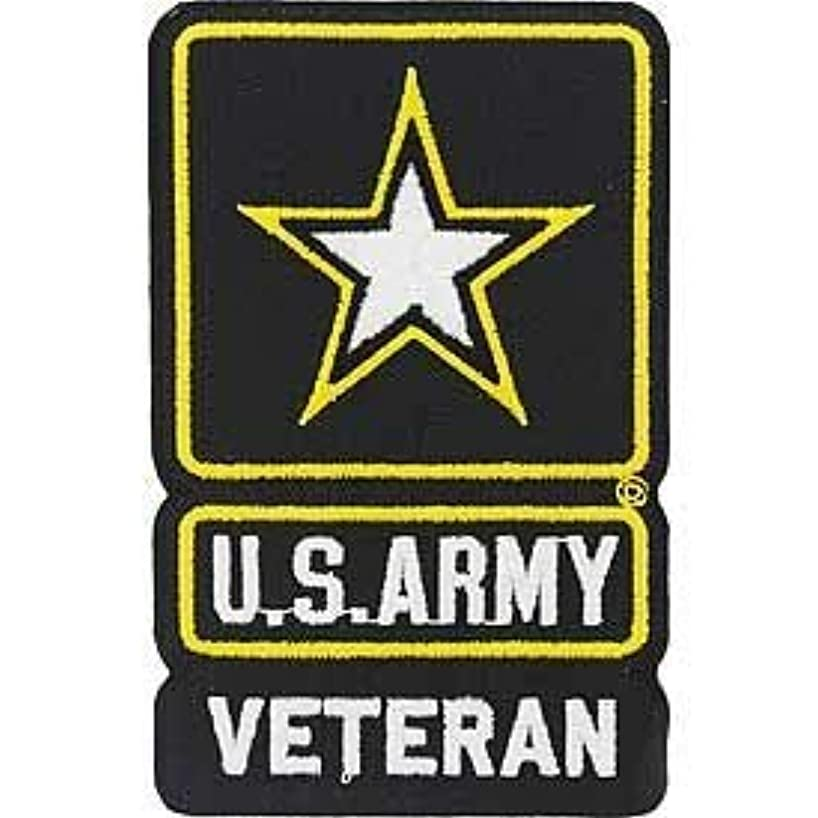 US Army, Star Logo Veteran - Decorative Patches, Embroidered Iron On Patch - 3.75