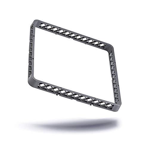 Kerafactum Aufsatz Rahmen für Spülkorb Korb Erweiterungselement für Körbe Teller und Tabletts Gläser Gastro Spülmaschine Spülmaschinenkorb aus Kunststoff 50x50 cm erweiterbar rack extender