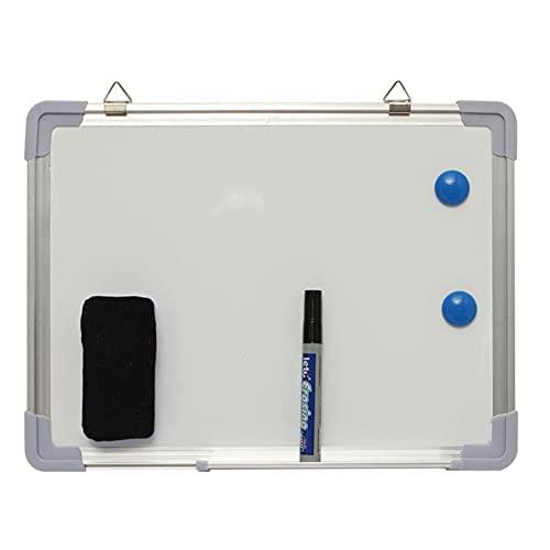 Tablero de dibujo magnético de doble cara Pizarra de pizarra seca Limpie magnética Pizarra de aluminio Edificio Educativo Tablero blanco con pluma eraser 40x30cm