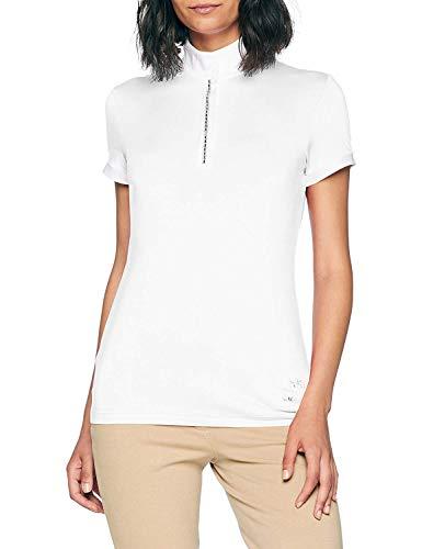 HKM Damen Turniershirt Crystal, Weiß (White 1200), S
