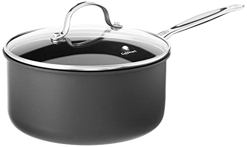 Cuisinart Chef's Classic Nonstick Hard-Anodized 3-Quart Saucepan with Lid