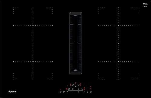 Neff T48CD7AX2 Autarkes Kochfeld, schwarz, mit integriertem Dunstabzug