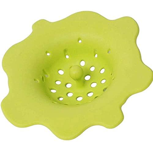 Jualyue Patrón De Flores Colador Plástico Creativo Drenaje Tapón Práctico Filtro Colador Flor Fregadero