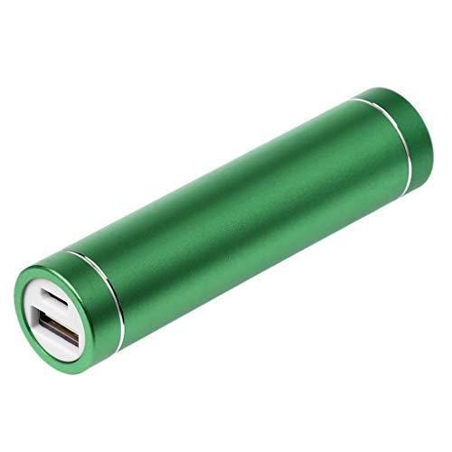 Huwaioury Power Bank, custodia portatile USB per batteria per 1 batteria 18650 Green