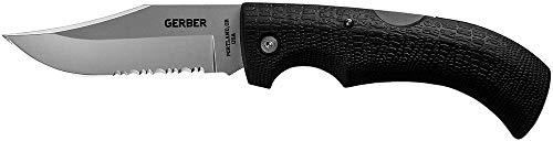 Gerber Gear 06079N Gator Folding Knife, Serrated Edge, Clip Point