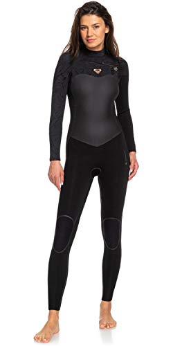 Roxy Dames Performance 4/3mm Wetsuit met Chest Zip Zwart - Warme warmtelagen Lichtgewicht