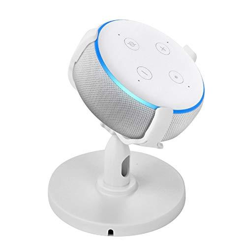 Rehomy Support de Table pour Echo Dot 3E Génération Support de Table de Rotation à 360 Degrés Support de Support Réglable pour Haut-Parleur Maison Intelligente Accessoires Intelligents Dot