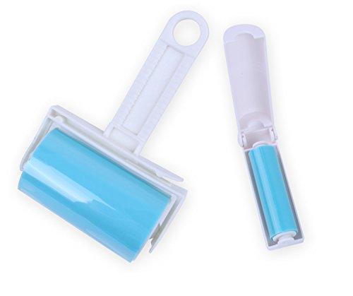 iLifeTech Reusable Sticky Picker Set Cleaner Lint Roller Pet Hair Remover Brush, Blue