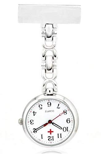 Taschenuhr Damen Uhr Medizinische Anstecknadel Clip-on Revers Pin Klammer on Brosche hängen Täglich wasserdichte Quarz Krankenschwester Uhr Ideal für Sanitäter