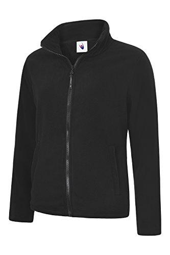 UC608 - Ladies Classic Full Zip Fleece Jacket (300 GSM) - Black - Medium