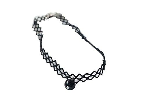 Rhombus Neck Strap La Mode Collier de perle noire