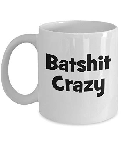 N\A aza Loca de Batshit - Taza de café Divertida de Batsht - Regalo para Amigos, Familiares, compañeros de Trabajo - Cumpleaños, Navidad