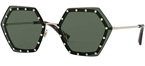 Valentino Sonnenbrillen GLAMTECH VA 2035 PALE GOLD/DARK GREEN 62/16/140 Damen