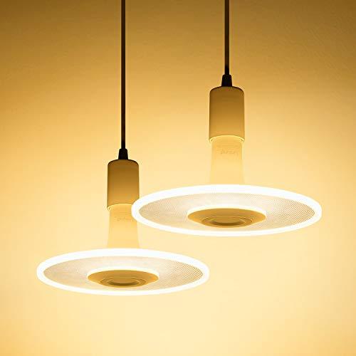 Linkind Paquete de 2 juegos de lámparas colgantes estrella nube LED bombilla 11W (cable incl.) 1100lm colgante blanco cálido brillante, apto para casquillo E27, lámpara de diseño para cocina