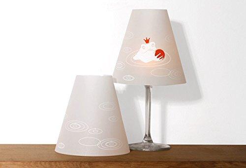 MÄRCHENHELENE · 2 Weinglas Lampenschirme mit Märchenmotive · von DIE SCHÖNE HELENE (FROSCHKÖNIG)