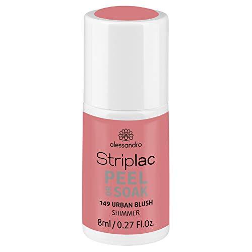 alessandro Striplac Peel or Soak Urban Blush - LED-Nagellack in Rose mit Shimmer- Für perfekte Nägel in 15 Minuten, 8 ml