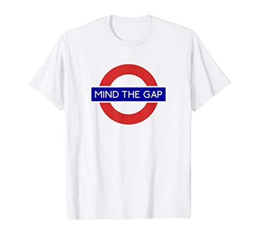 London Souvenir Mind The Gap Underground Tube T-Shirt