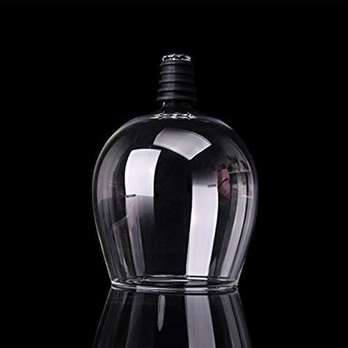 IBISHITAOXUNBAIHUOD Moda Cristal Único de Vidrio Transparente Botella de Vino Rojo 401-500ml Herramientas de Rosca Beber Directamente la Taza del Partido Bar