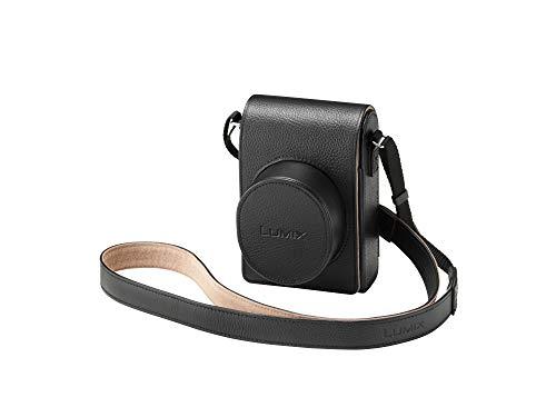 Lumix DMW-PLS79XEK Hochwertige Ledertasche mit Schultergurt für LX100 und LX100 II Kameras Schwarz