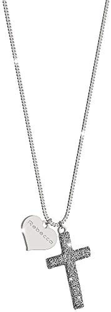 Rebecca collana per donna in argento 925 e sabbia di diamanti. SJOKAA12