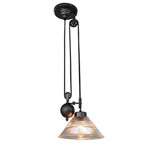 BOSSLV Lampes Murales de Lavage Lampes Lumières Spotlights Éclairage Industriel Vintage Suspension Suspension Rétro Lampe Suspension Rouleau Télescopique Design Rond en Verre
