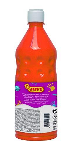 Jovi- Botella de Pintura Dedos, Color naranja, 750 mililitros (56206)
