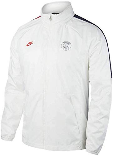 Nike Herren PSG M NK AWF LTE JKT Sport Jacket, White/White/Midnight Navy/(University red) (no Sponsor-Cl), M