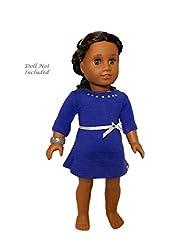 "Truly Me Blue Rhinestone Studded Dress for 18"" Dolls"