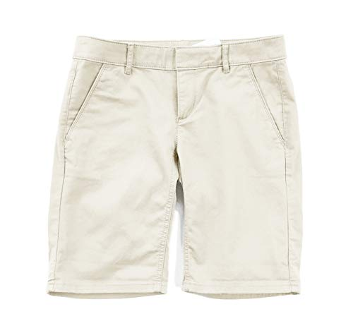Ann Taylor LOFT Women's Chino Stretch Bermuda Roll Shorts (8, Stone Khaki)
