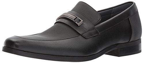 Calvin Klein Men's Jameson Slip-On Loafer, Black Leather, 12