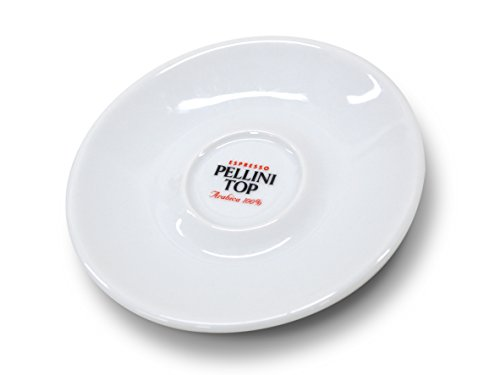 Pelliniエスプレッソカップヌオバ1客ソーサー付き白PLESCP1