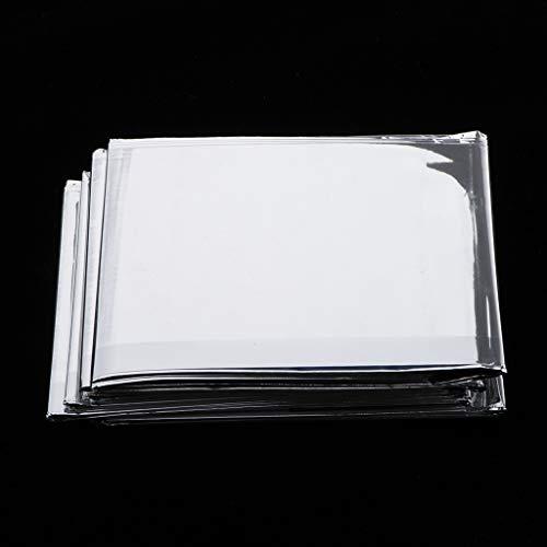 chiwanji 5x Rettungsdecken silber 210x160 Rettungsfolie Folie Decke Notfall Rettungsdienst Wärmedecke Schutzdecken, extraleicht