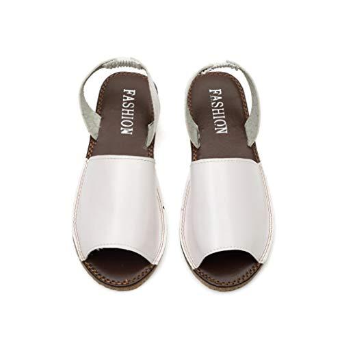 Femmes Casual Sandales Plates Faux en Cuir Peep Toe Slip sur Dames De La Mode Confortables Sandale À Bout Ouvert Sandale