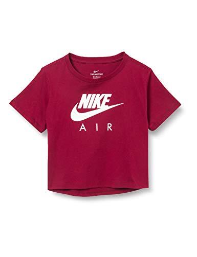 NIKE Air Crop T-Shirt Camiseta, Unisex niños, Rojo Oscuro/Blanco, Extra-Large