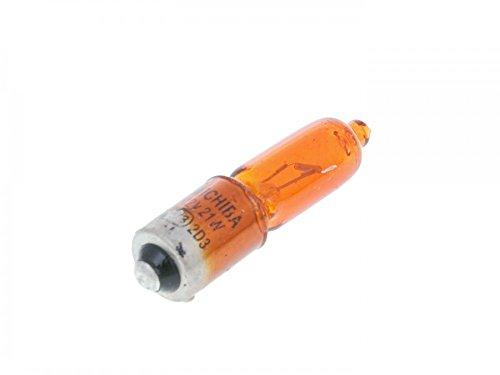 Ampoule à baïonnette Orange 12V Puissance 21W, culot 9 mm