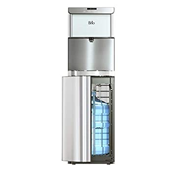Brio Moderna Bottom Load Water Cooler Dispenser - Tri-Temp Adjustable Temperature Self-Cleaning Touch Dispense Child Safety Lock Holds 3 or 5 Gallon Bottles Digital Display and LED Light