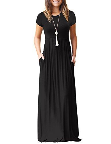 shermie Women's Casual Long Sleeve Plain Long Dresses Ladies Crew Neck Maxi...