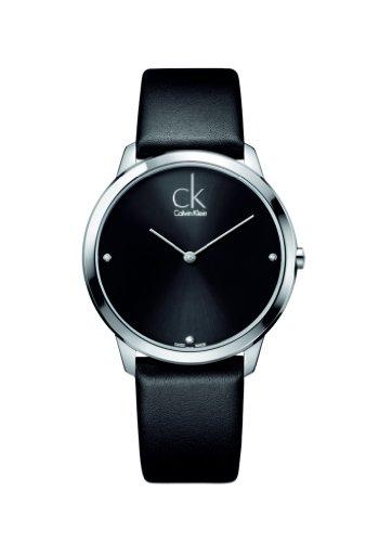 CK - Reloj de Cuarzo para Hombre, Correa de Cuero Color Negro